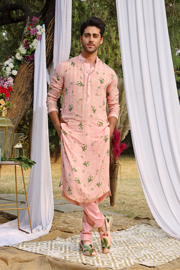 Light Blush Printed Kurta Set