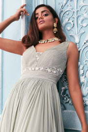 Sheer belt anarkali