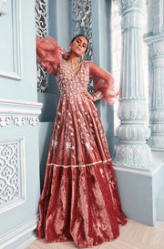 Velvet heavy anarkali