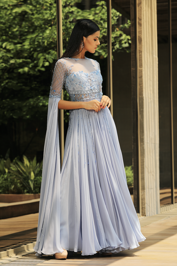 Floor Length Sleeve Anarkali