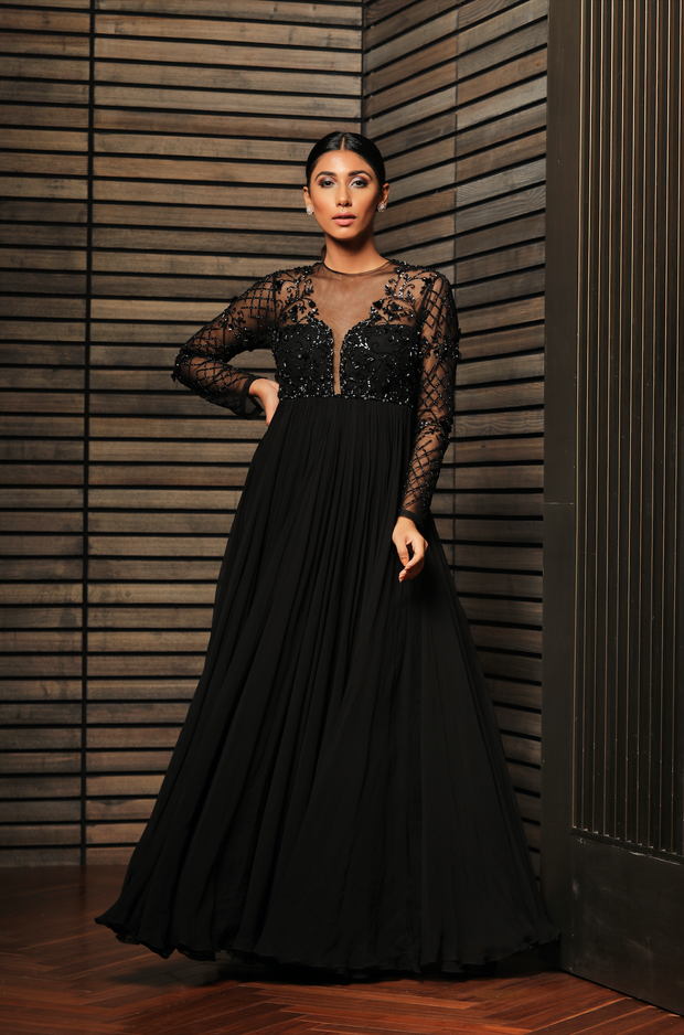 Sheer Back Anarkali