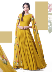 Printed Sleeve Anarkali