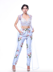 Jacket, Bustier And Pant Set