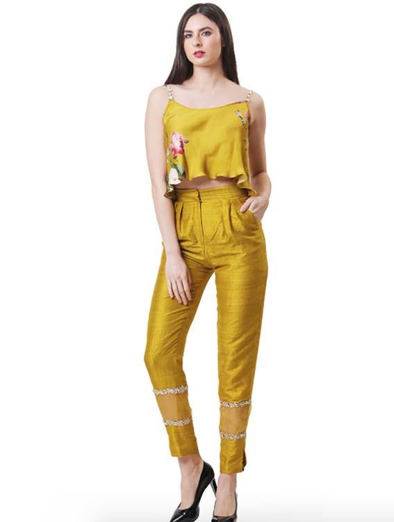 Flared Top And Pant Set