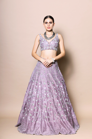 Heavy Embroidered Full Sleeves Lehenga Set