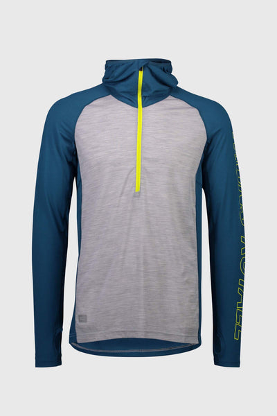 Temple Tech Hood - Oily Blue / Grey Marl