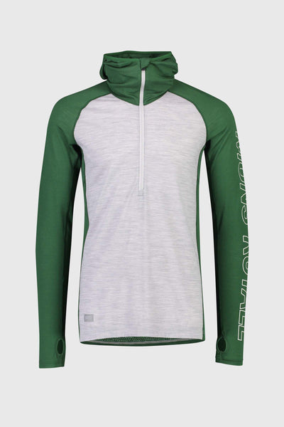 Temple Tech Hood - Pine / Grey Marl