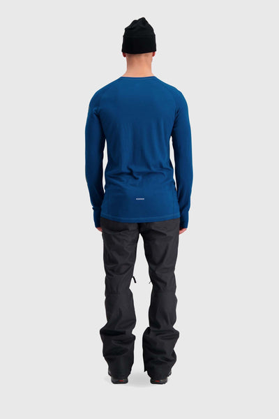 Temple Tech LS - Oily Blue / Grey Marl