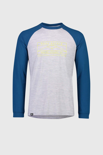 ICON Raglan LS - Oily Blue / Grey Marl