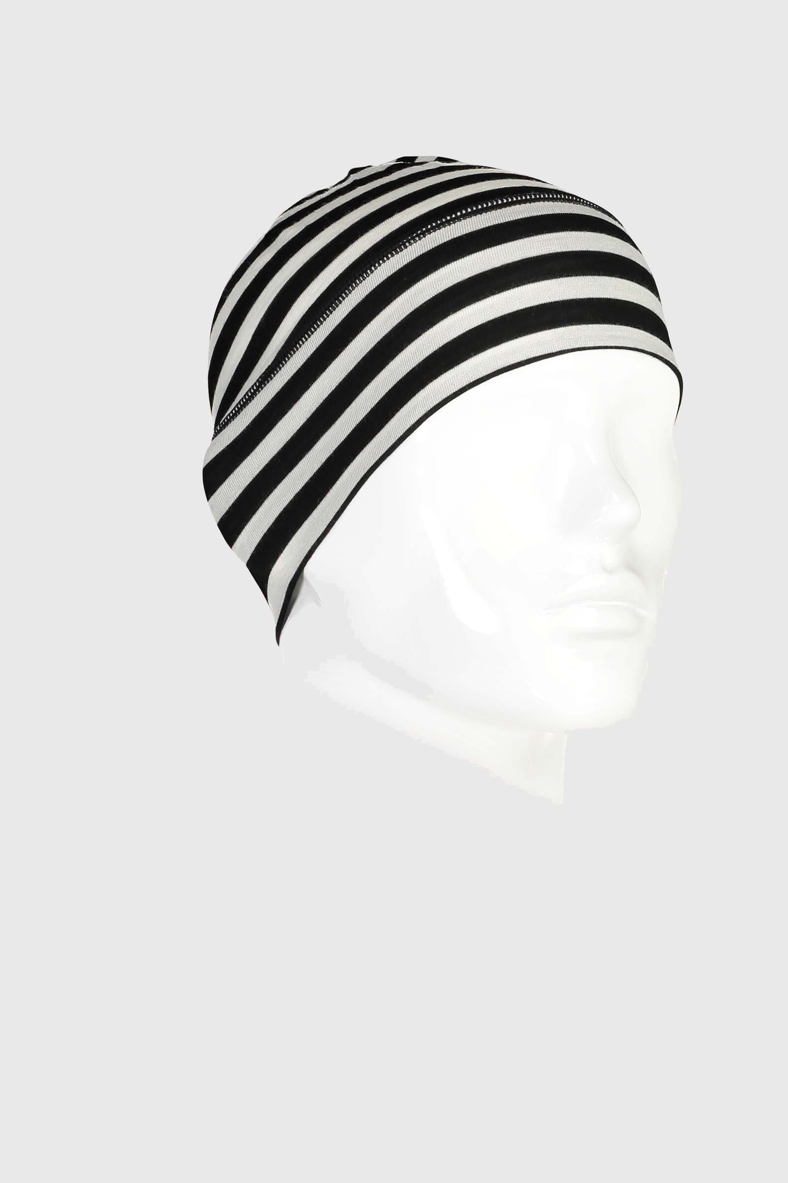 Tech Under Helmet Beanie - Thick Stripe