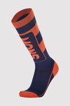 Mons Tech Cushion Sock - Navy / Orange Smash