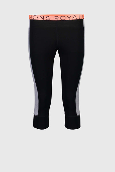 Alagna 3/4 Legging - Black / Grey Marl