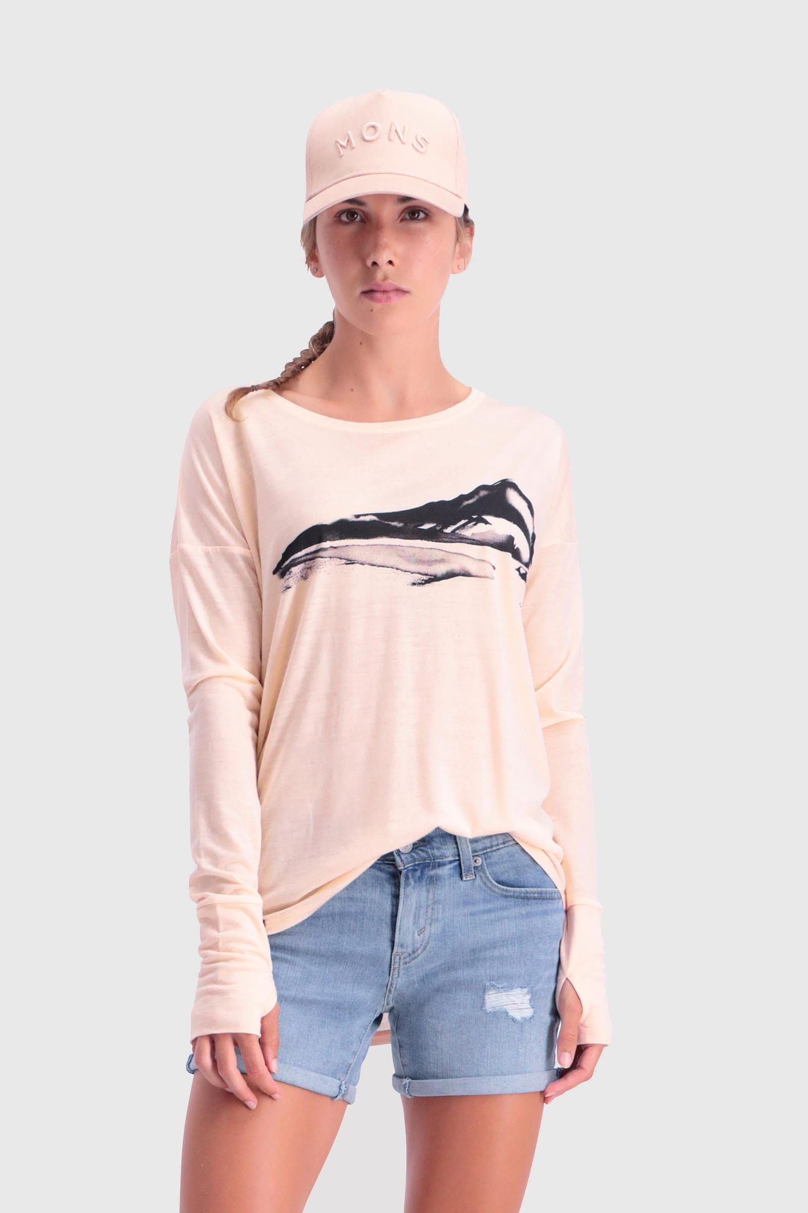 Estelle Relaxed LS - Blush