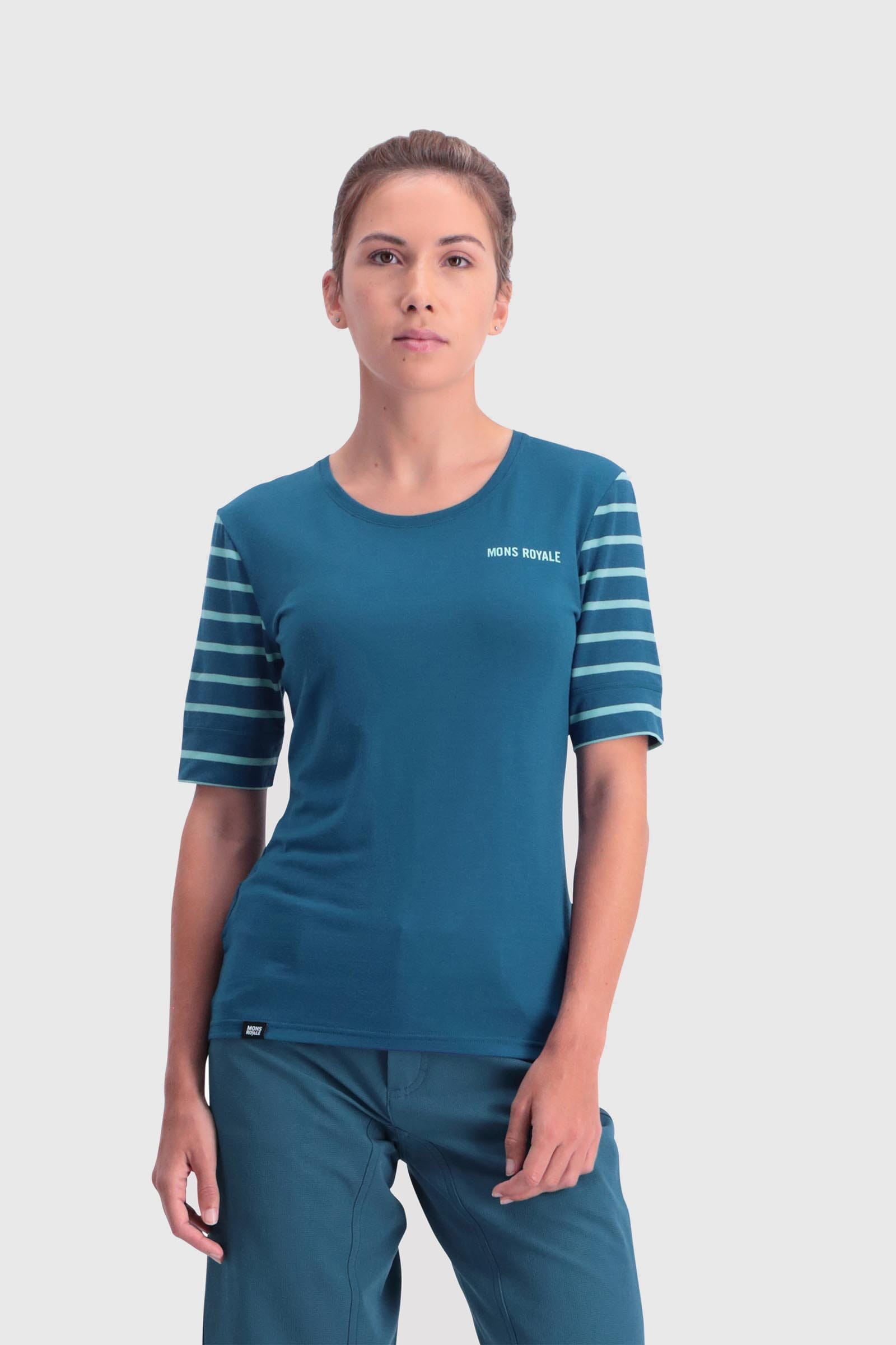 Cadence Tee - Oily Blue / Horizon Stripe