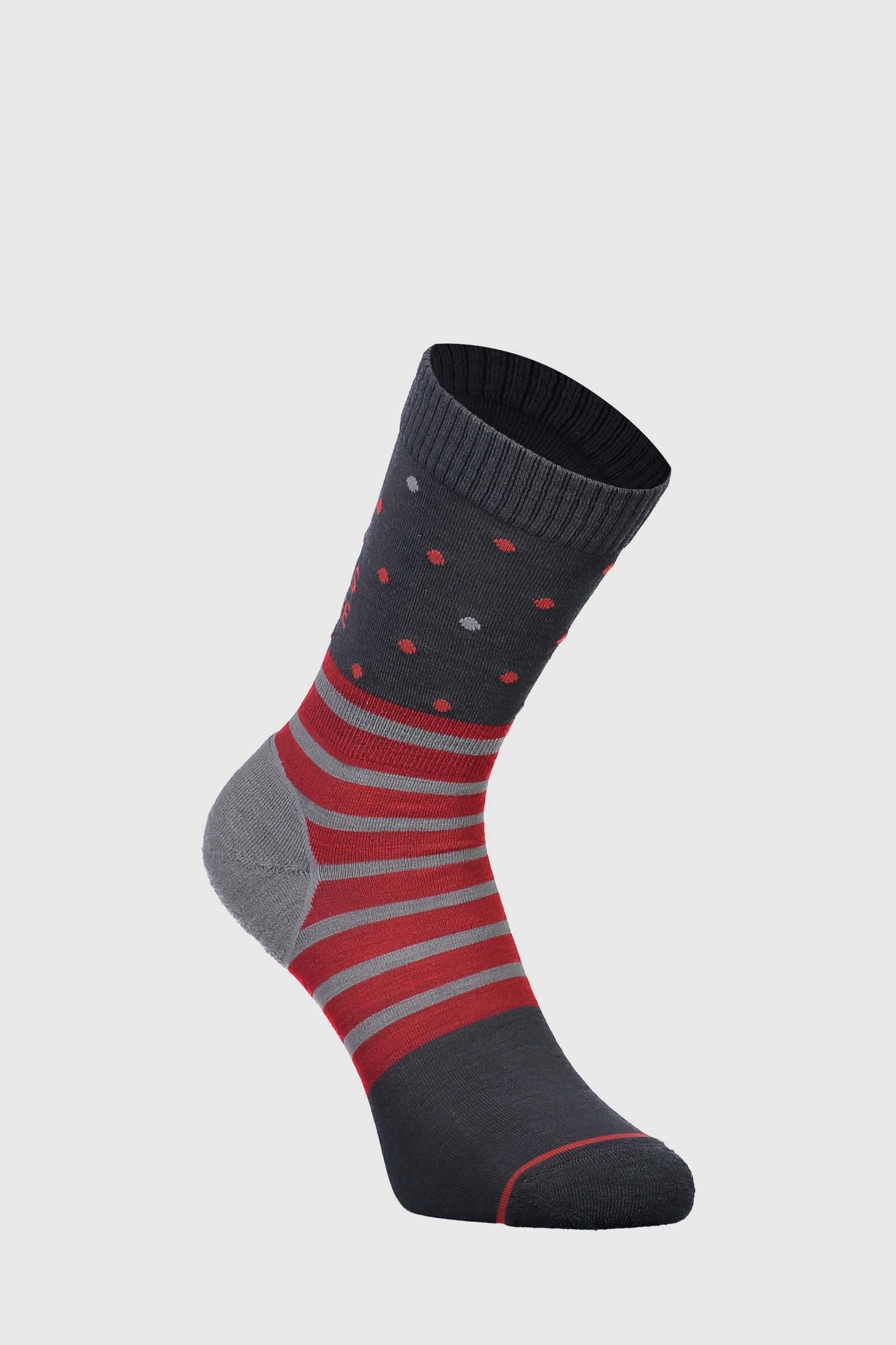 All Rounder Crew Sock - Poppy / Charcoal