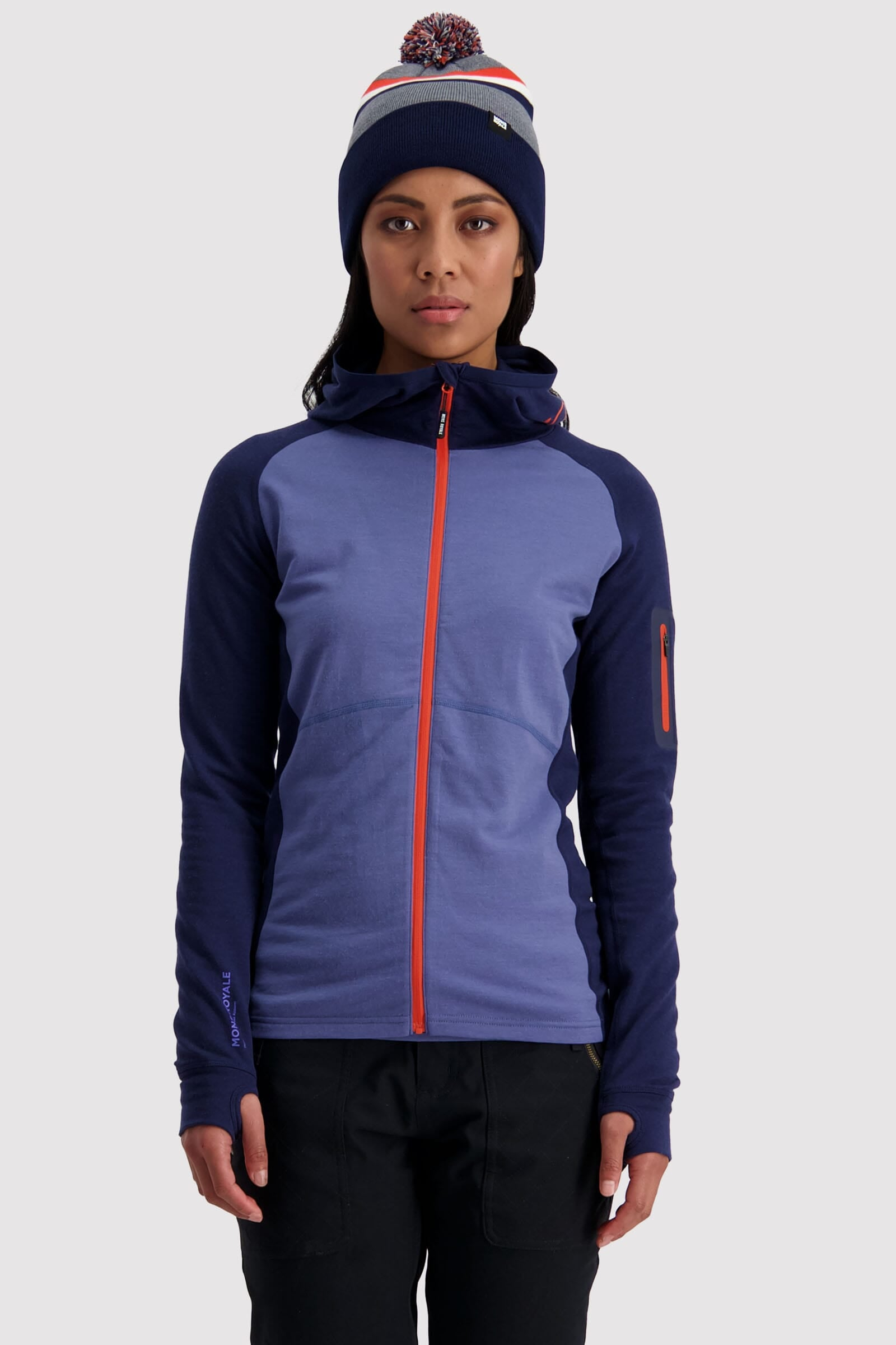 Ascend Midi Full Zip Hood - Blue Velvet
