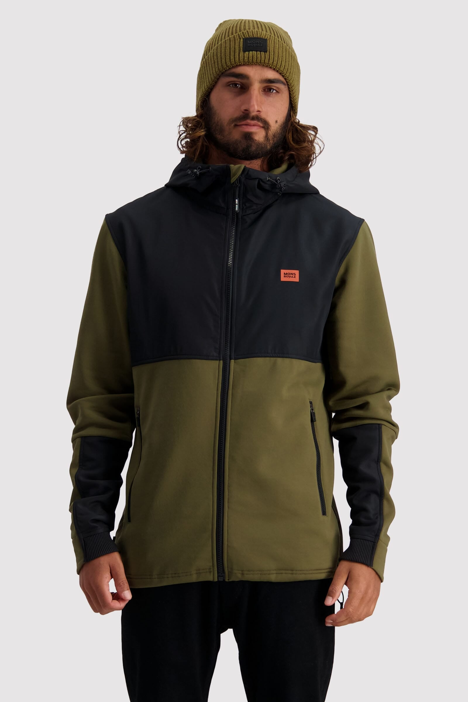 Decade Tech Mid Hoody - Canteen / Black
