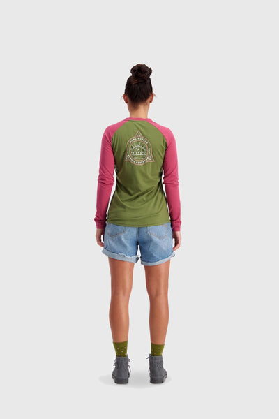 ICON Raglan LS - Khaki Rose