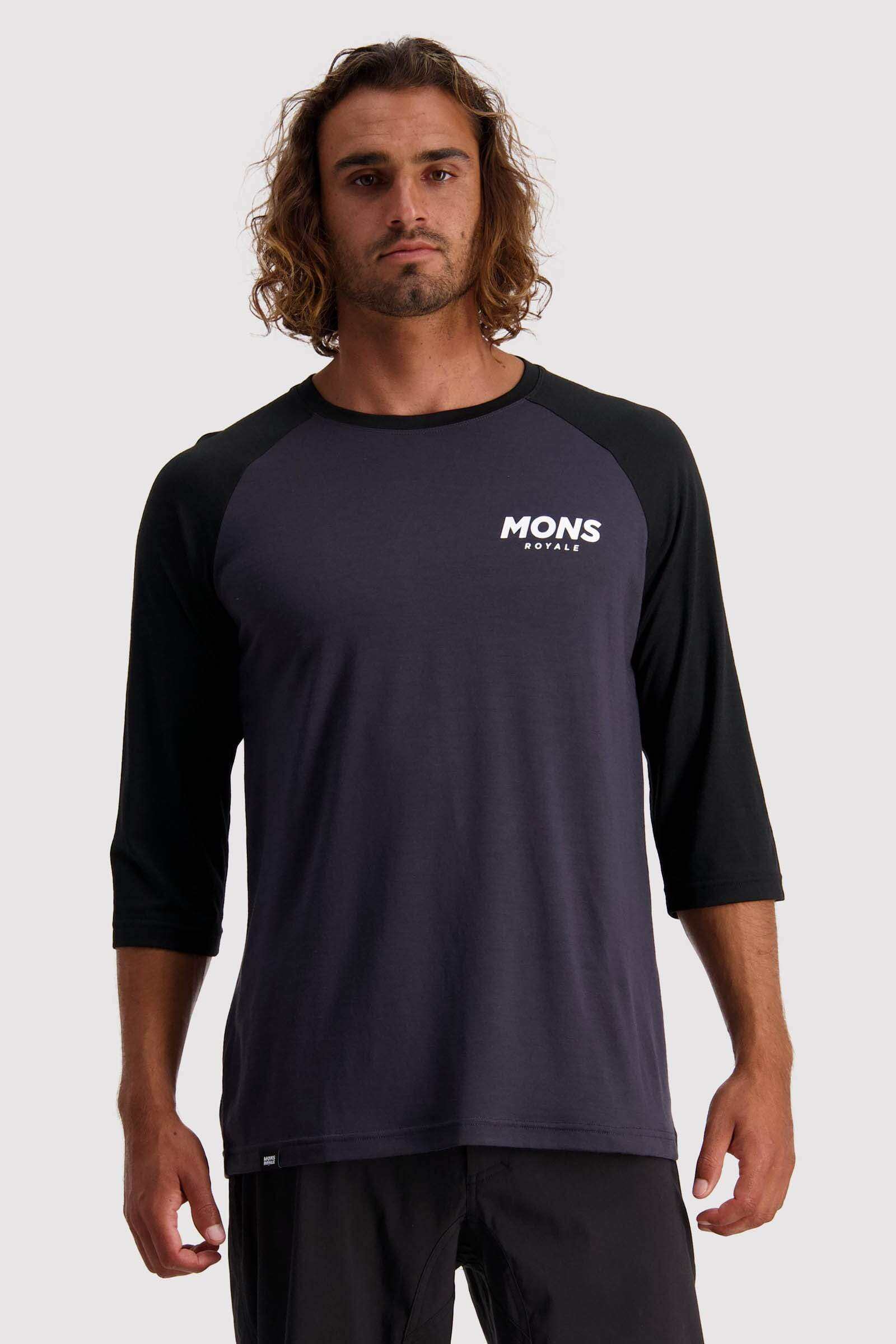 Tarn Freeride Raglan 3/4 - Black / 9 Iron