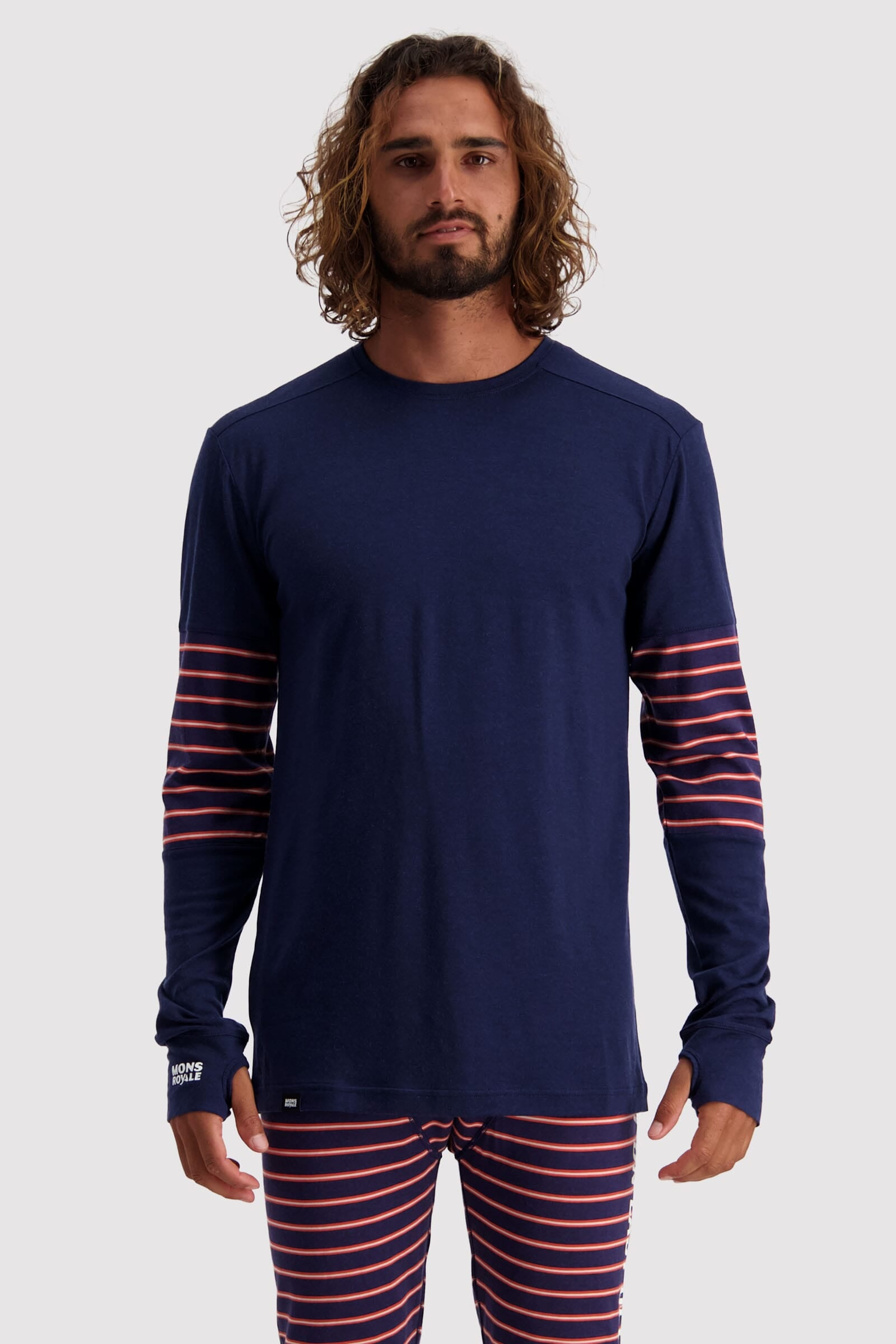 Alta Tech LS Crew - Navy / Alpine Stripe