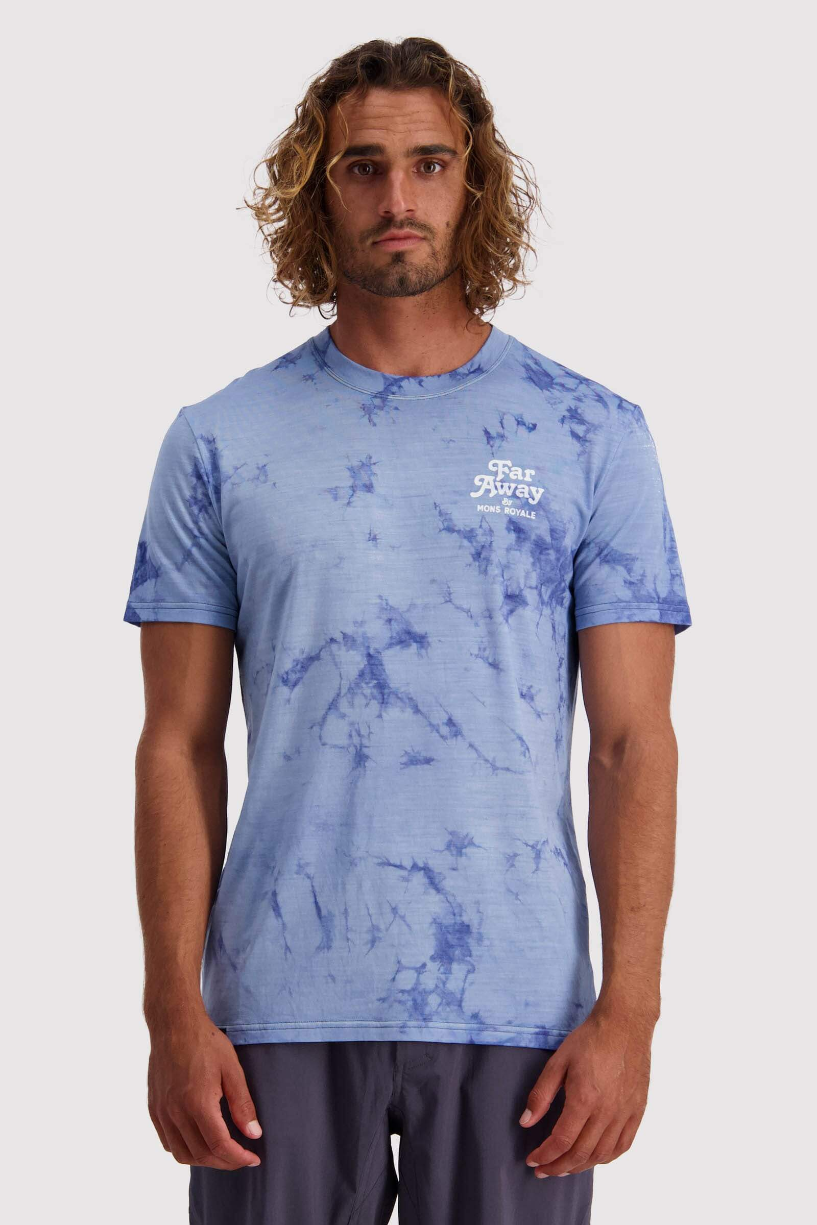 Icon T-Shirt Tie Dyed - Dark Denim