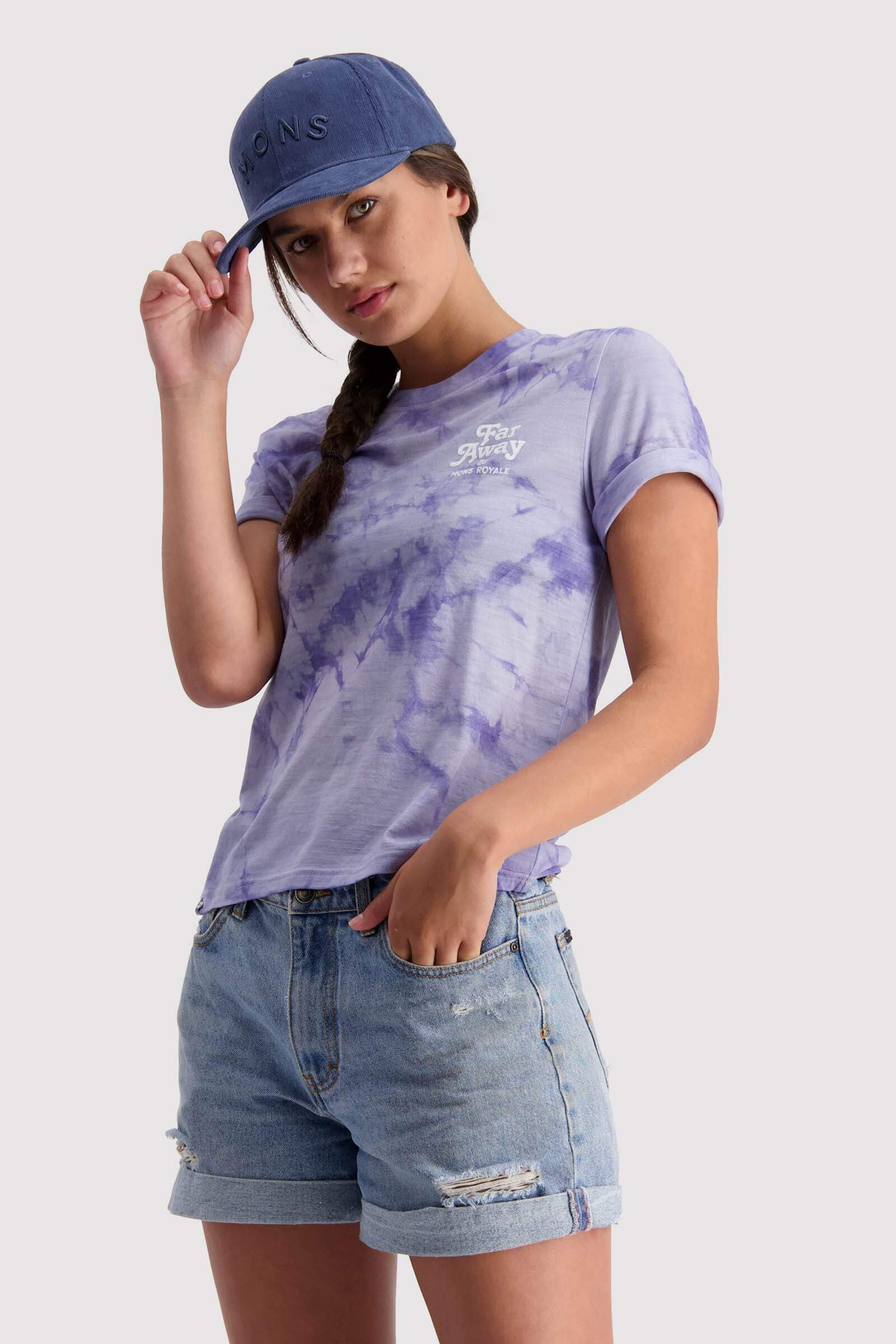 Icon Relaxed Tee Tie Dyed - Lilac