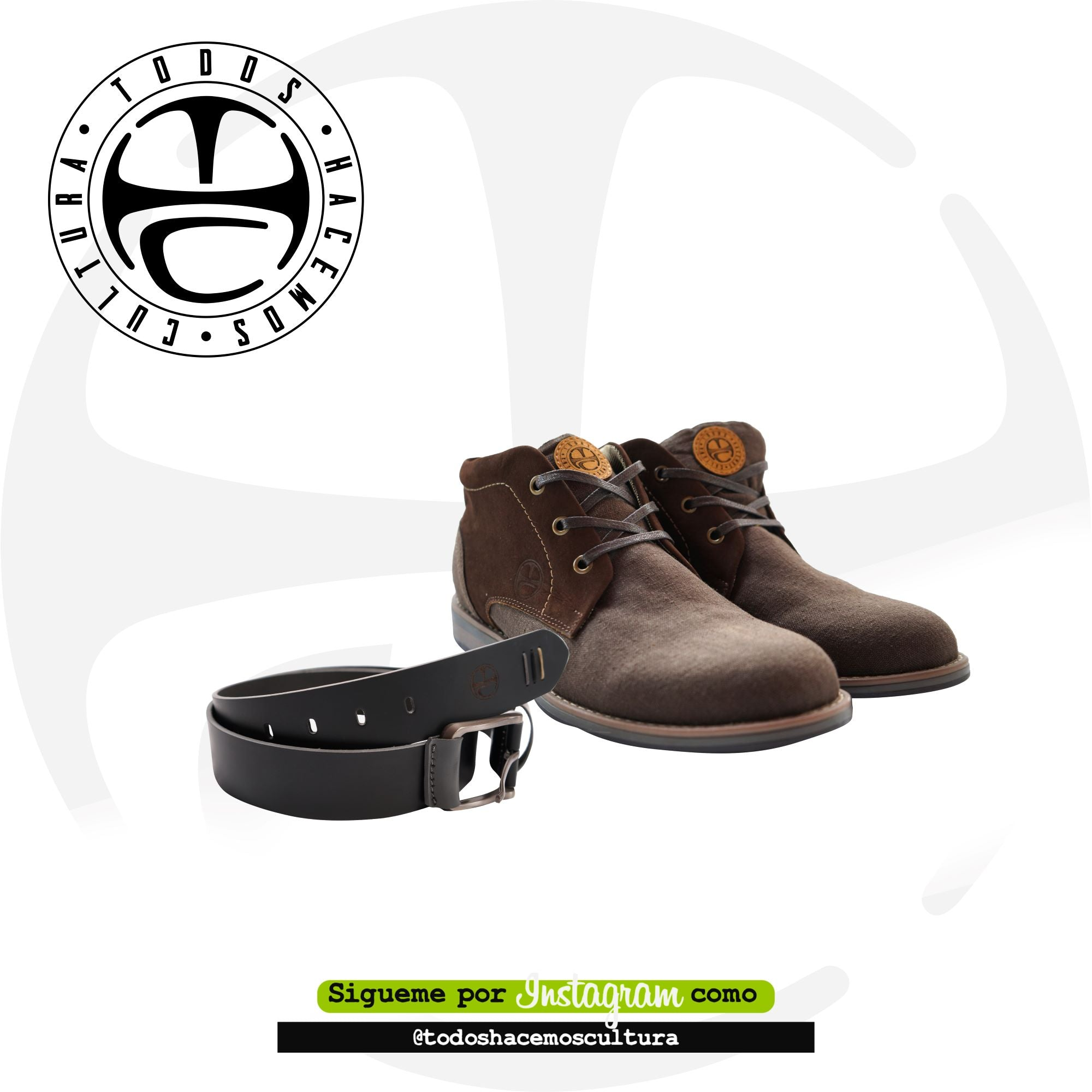 KIT 10L BROWN: ZAPATOS Y CORREA
