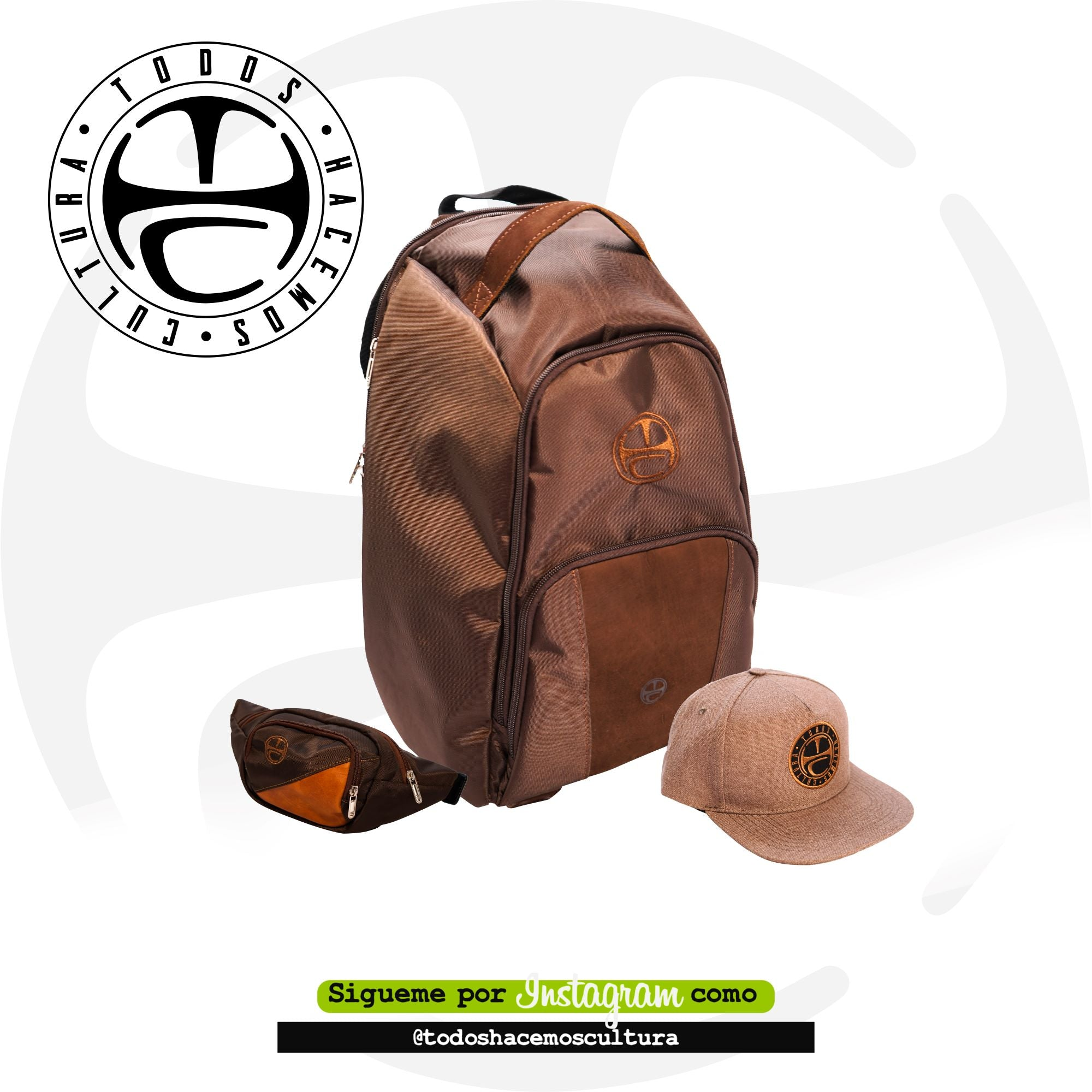 KIT 6L BROWN: MORRAL, RIÑONERA, GORRA