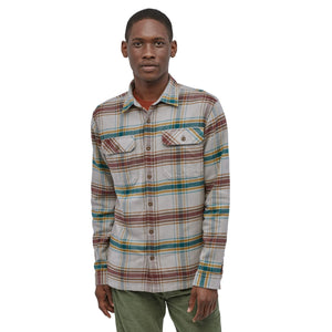 Long Sleeve Fjord Flannel Shirt - Defender: Feather Grey