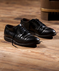 Postman Oxford 101 - Black Chaparrel Leather