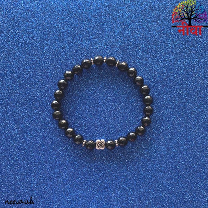 BLACK ONYX FACETED - SILVER - Neeva Holistic Care