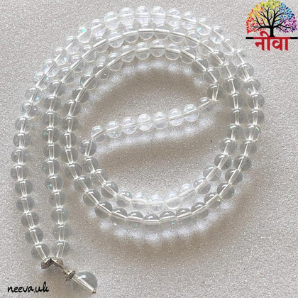 Clear Quartz Mala - Neeva Holistic Care