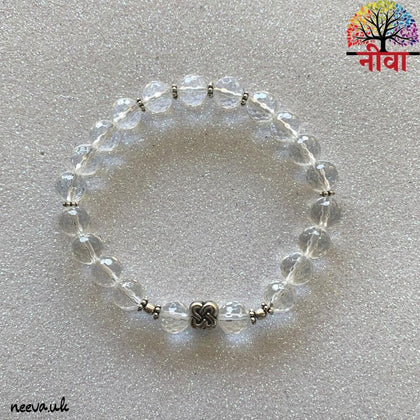 CRYSTAL QUARTZ FACETED -SILVER - Neeva Holistic Care