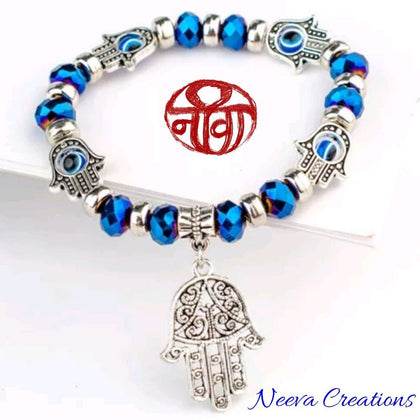 Neeva Holistic CareEvil Eye Hamsa Hand Bracelet - Blue ColorEvil Eye