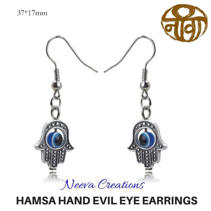 Evil Eye Hamsa Hand Earring - Neeva Holistic Care