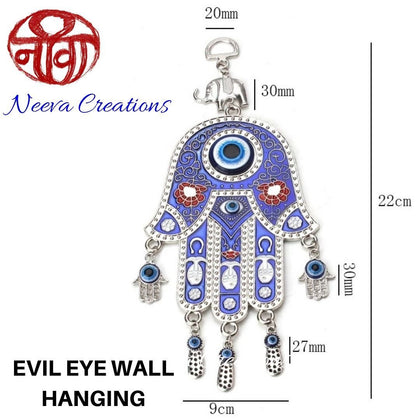 Evil Eye Hamsa Hand - Wall Hanging - Neeva Holistic Care