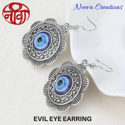 Evil Eye Medallion Earring - Neeva Holistic Care