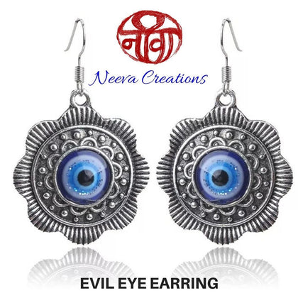 Neeva Holistic CareEvil Eye Medallion EarringEarrings