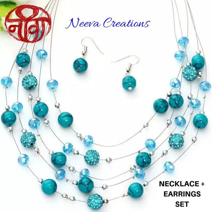 FLOATING BEADS NECKLACE - Neeva Holistic Care