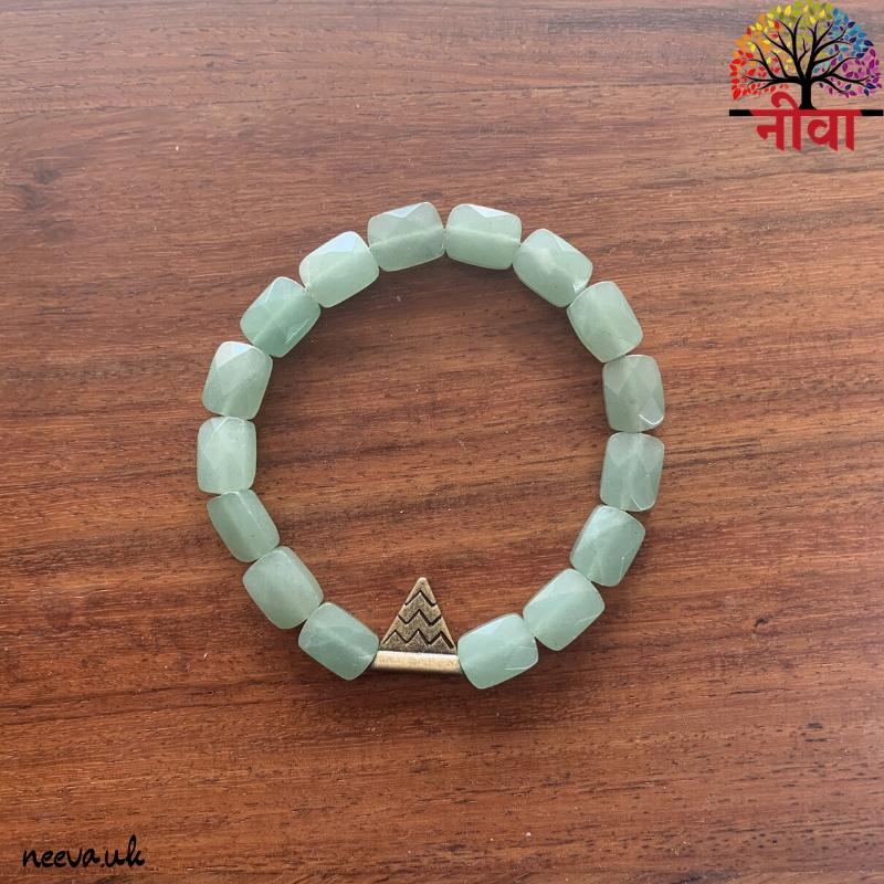 GREEN AVENTURINE FACETED RECTANGULAR