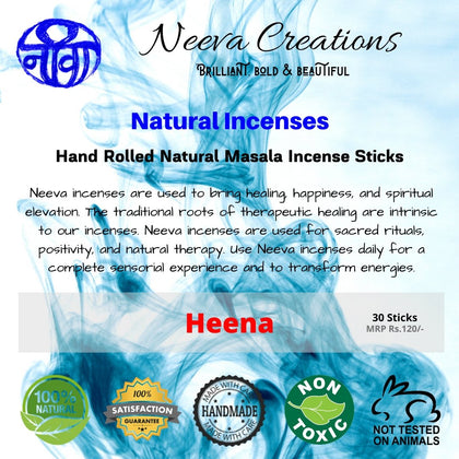 Heena Incense Sticks - Neeva Holistic Care