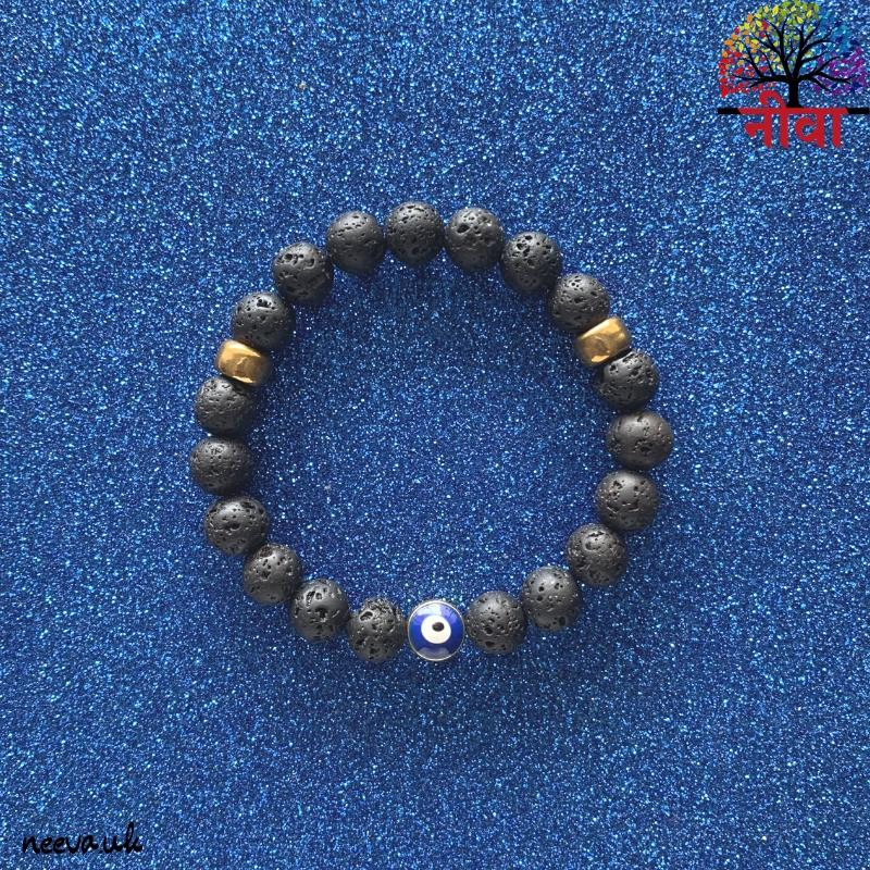 PROTECTION - EVIL EYE LAVA STONE