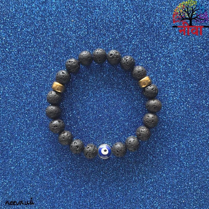 PROTECTION - EVIL EYE LAVA STONE - Neeva Holistic Care