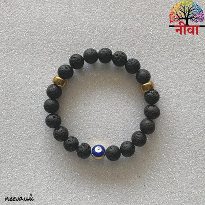 Neeva Holistic CarePROTECTION - EVIL EYE LAVA STONEBracelet
