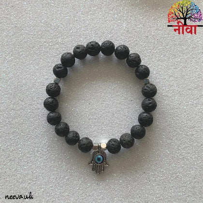 PROTECTION - HAMSA HAND LAVA STONE - Neeva Holistic Care