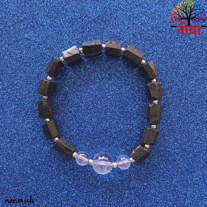 Neeva Holistic CareRAW TOURMALINE + CLEAR QUARTZ - SILVERBracelet
