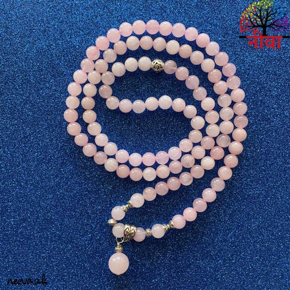 Rose Quartz 108 Mala - Neeva Holistic Care