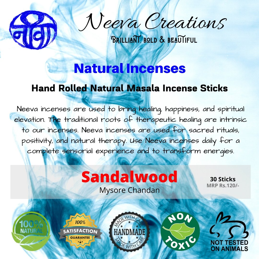 Sandalwood - Mysore Chandan - Incense Sticks