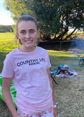 Country Life Kids T-Shirt Pink - Working Bull:Country Clothing Range