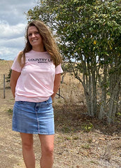 Country Life Womens Tshirt Pink - Working Bull: Country Clothing range
